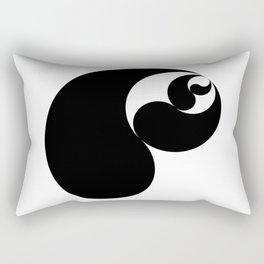 Yin Yang Shell Rectangular Pillow