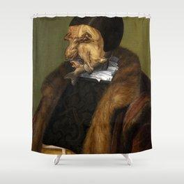 "Giuseppe Arcimboldo ""The jurist"" Shower Curtain"