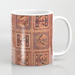 Zili South Caucasus Azerbaijan Antique Flatweave Rug Coffee Mug