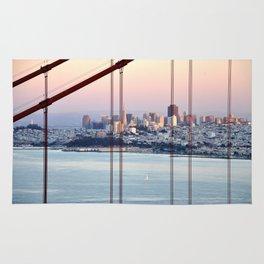SAN FRANCISCO & GOLDEN GATE BRIDGE AT SUNSET Rug