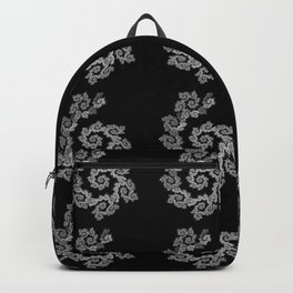 Dancing flowers in black and white Backpack