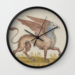 Griffin Sphinx Fantastic Beings Wall Clock