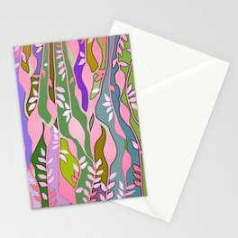 Long colored leaves Stationery Cards