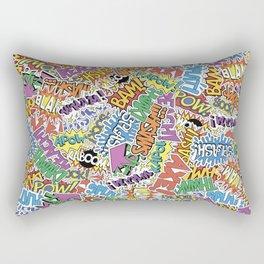 Comic Madness - Bam! Pow! Kaboom! Rectangular Pillow