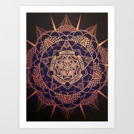 Star Mandala Art Print