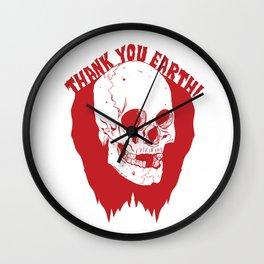 Thank You Earth Wall Clock