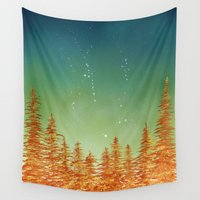 aurora Wall Tapestries featuring Aurora by Andrew Coulter