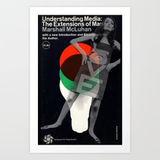 LOVE media Art Print
