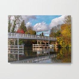 Autumn Colours At Whitchurch Bridge Metal Print