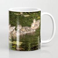 ducks Mugs featuring Ducks by LudaNayvelt