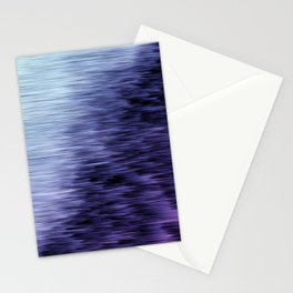 Offshore We Go Purple Glitch Pattern Stationery Cards
