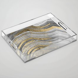 Abstract paint modern Acrylic Tray