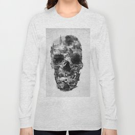 Town Skull B&W Long Sleeve T-shirt