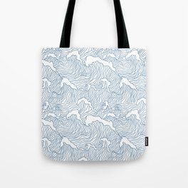 Japanese Wave Tote Bag