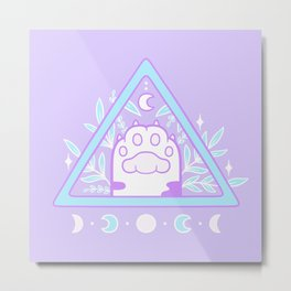 Witchy Cat Paw 01 Metal Print