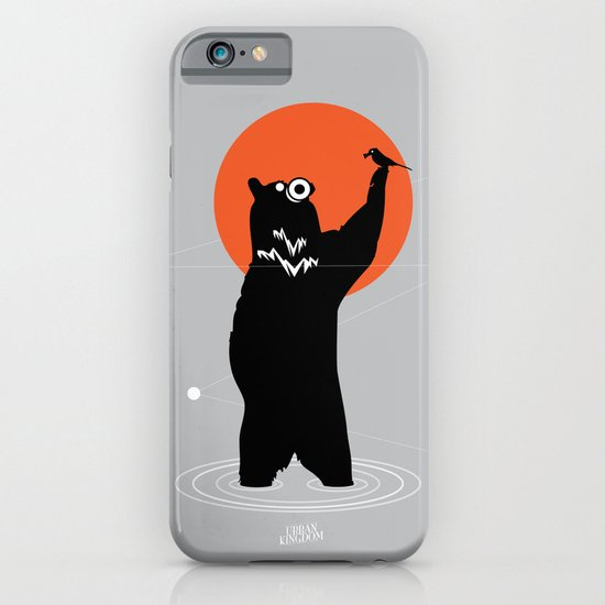 Big Bear and the Bird- Wearing Gas mask iPhone & iPod Case