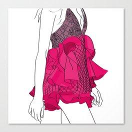 Pink dress Canvas Print