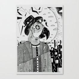 Cotorro vestido de gente Canvas Print
