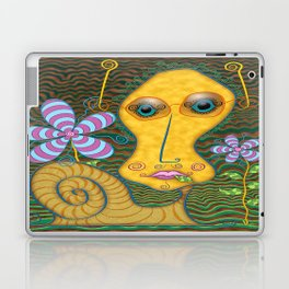 Portrait of the Artist as a Young Snail Laptop & iPad Skin
