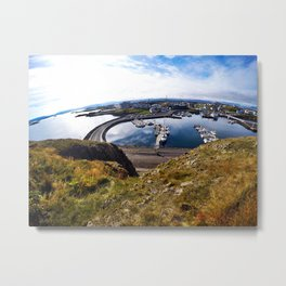 Súgandisey Lighthouse in Stykkishólmur, Iceland (3) Metal Print