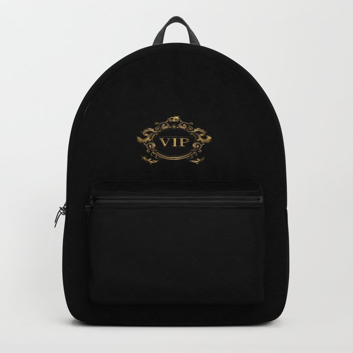 VIP In Black and Goldtone Backpack