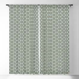 Kitchen Floral in Bue Blackout Curtain