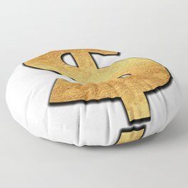 Gold Dollar Sign Floor Pillow