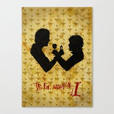 W is for Withnail & I Canvas Print