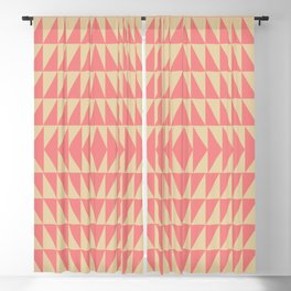 Bold Triangle Pattern in Pink and Orange Blackout Curtain