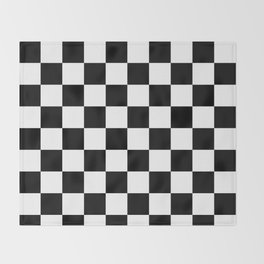 Black & White Checker Checkerboard Checkers Throw Blanket
