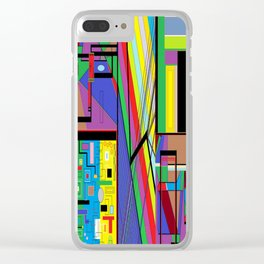 Geometry Abstract Clear iPhone Case