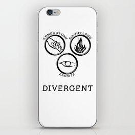 Divergent (Black) iPhone Skin