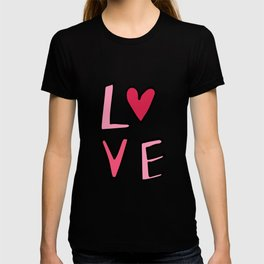 Love Lettering Pink #Valentines T-shirt