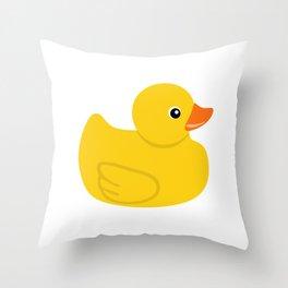 Yellow rubber duck Throw Pillow