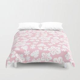 Hawaiian Hibiscus Flower pattern Soft pink Duvet Cover