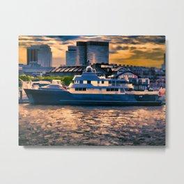 Harbour at Twilight Metal Print