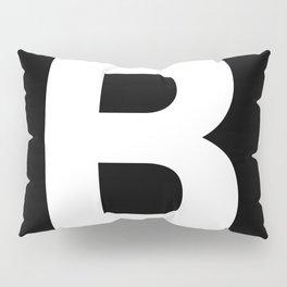 Letter B (White & Black) Pillow Sham
