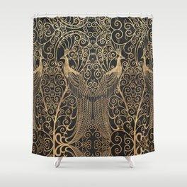ART DECO PEACOCKS Shower Curtain