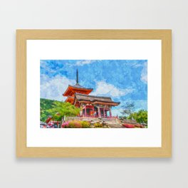 Sensō-Ji Temple Kyoto Japan Framed Art Print
