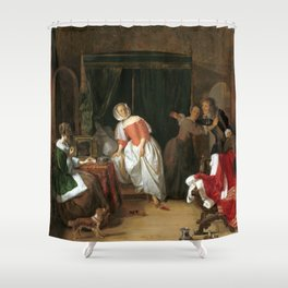 Gabriël Metsu The Intruder Shower Curtain