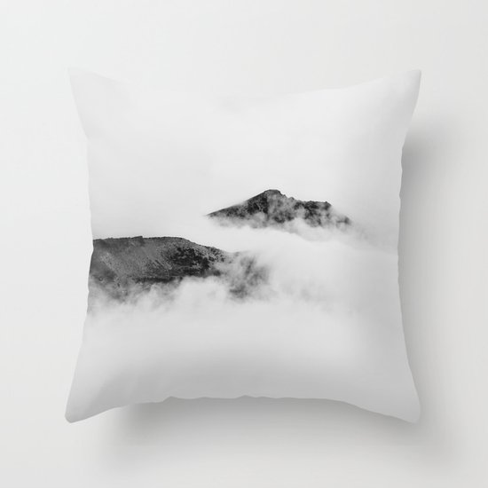 Mountains in the Clouds Throw Pillow