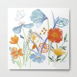 Watercolor Collage Metal Print