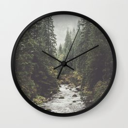 Mountain creek - Landscape and Nature Photography Wall Clock