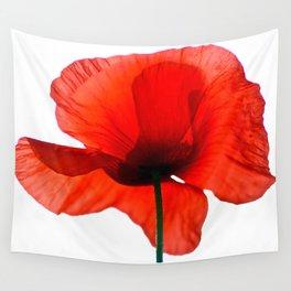 Simply Red - Poppy Flower on White #decor #society6 #buyart Wall Tapestry