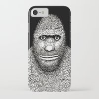 bigfoot iPhone & iPod Cases featuring Bigfoot by The Art of Filippo Borghi