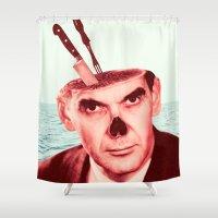 butcher billy Shower Curtains featuring Butcher by Dorian Danielsen
