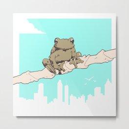 City Frog Metal Print