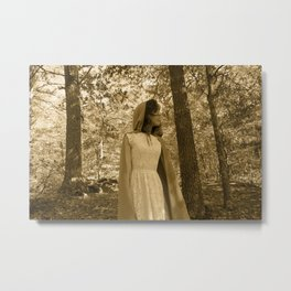 Sepia Red Metal Print