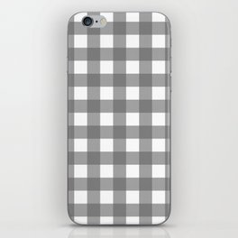 Gingham (Gray/White) iPhone Skin