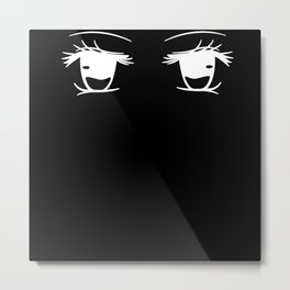 Anime Eyes Metal Print